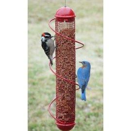 Bird Quest 17 Red Spiral Peanut Feeder