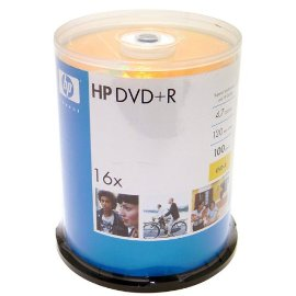 Hewlett Packard 16X 4.7GB DVD+R 100pk Spindle