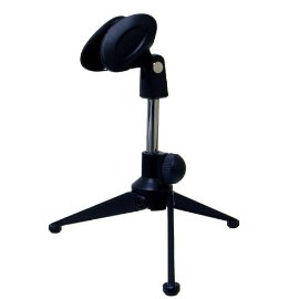 Hisonic Deluxe Tabletop Tripod Microphone Stand with Clip, E-1
