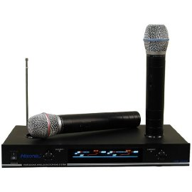 Hisonic VHF Dual Rechargeable Wireless Microphone System, HS8286.