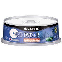 Ink-jet Printable DVD+r Spindle