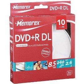 Memorex DVD+R DL 10-pk.