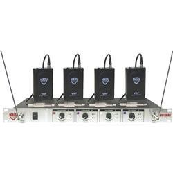 Nady 401X Quad WGT VHF Wireless Guitar System, Set A