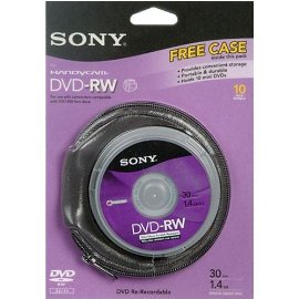 Sony 10DMW30RS2P 8cm DVD-RW, 10-Pack