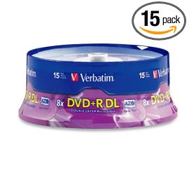 Verbatim 95484 8.5GB 8X Branded DVD+R DL