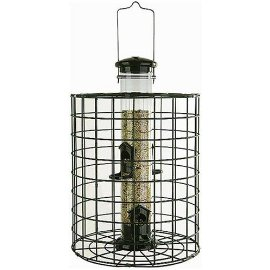 Audubon #NATUBE3  Squirrel Proof Caged Tube Type  Wild Bird Feeder