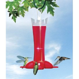 Birdscapes® 279 Deluxe Rose Petal Hummingbird Feeder, 12 oz capacity