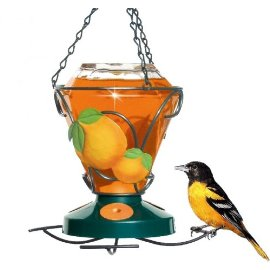 Perky Pet 750 Deluxe Hand Painted Oriole Feeder, 24 oz capacity