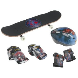 Spider-Man 28-Inch Skateboard, Helmet, and Protective Pad Combo Pack