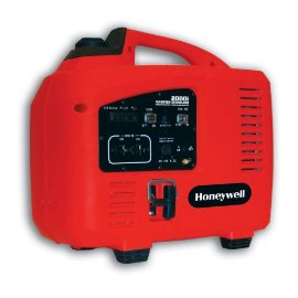 Honeywell HW2000i Portable Inverter Generator, 2000W Rated, 2100W Max Output (CARB and 50 State Compliant) - Red