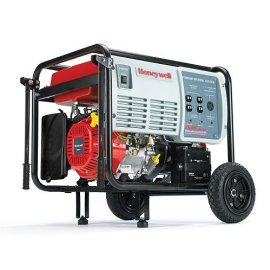 Honeywell HW7500E 9375 Watt 15 HP 420cc OHV Portable Gas Powered Home Generator With Electric Start (Non-CARB Compliant)