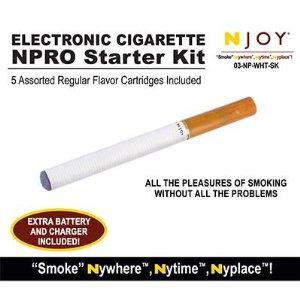 NJOY NPRO White Starter Kit w/ 5 Cartridges (03-NP-WHT-SK ...