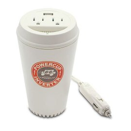 PowerLine 0900-66 200-Watt Coffee Cup Inverter with USB Charging Port and Two Outlets