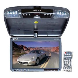 Pyle PLRD92 9 Flip Down DVD System with Wireless FM Modulator/ IR Transmitter
