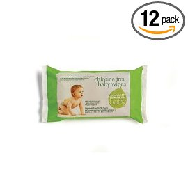 Seventh Generation Baby Wipes Refills, Chlorine Free and Unscented, (12 Pack, 960 Wipes total)