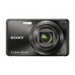 Sony Cybershot DSC-W290 12.1MP Digital Camera w/ 5x IS Zoom (DSC-W290/B, Black)