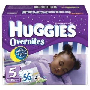 Huggies Overnites Diapers, Size 5, Big Pack, 56-Count Box