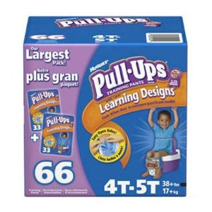 Huggies Pull-Ups 66 Training Pants for BOYS (4T-5T, 38+lbs, 17+kg)