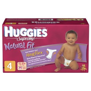 Huggies Supreme Natural Fit Diapers Step 4 Hi Count Junior (Pack of 100) - Step 4 (Pack of 100)