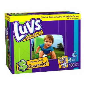 Luvs Premium Stretch Diapers, Size 4 (22-37 Lbs), 180 Diapers