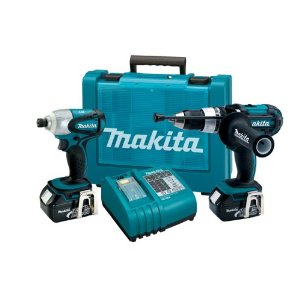 Makita LXT218 LXT Cordless Hammer Driver-Drill/Impact Wrench Combo Kit