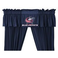 NHL Columbus Blue Jackets - 5pc Jersey Drapes / Curtains and Valance Set
