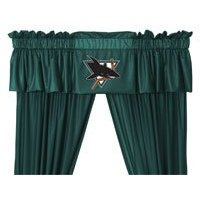 NHL San Jose Sharks - 5pc Jersey Drapes / Curtains and Valance Set