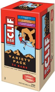 Clif Bar Variety Pack of 24 Bars [Chocolate Chip, Crunchy Peanut Butter, and Chocolate Chip Peanut Crunch]