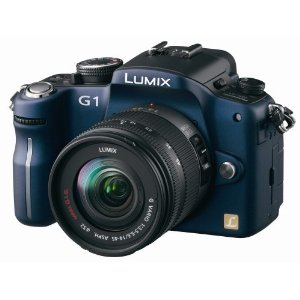 Panasonic Lumix DMC-G1 12.1MP Camera w/ G Vario 14-45 mm f/3.5-5.6 ASPH Mega OIS Lens DMC-G1 (Blue)
