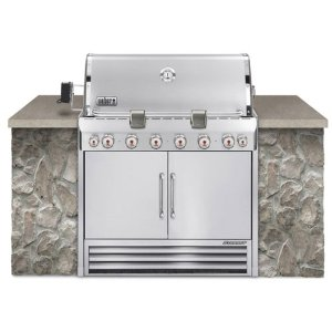 Weber Summit S-660 Built-In Natural Gas BBQ Grill with Rotisserie & Smoker (# 2870501)