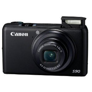 Canon PowerShot S90 IS 10MP Camera with 3.8x Wide Angle IS Zoom and 3 LCD