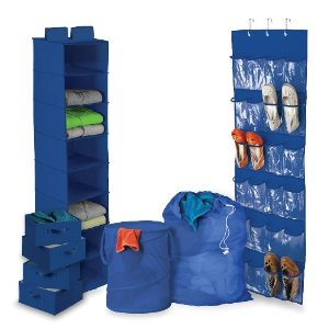 Honey-Can-Do Dorm Organization Kit, Blue (BTS-01584)