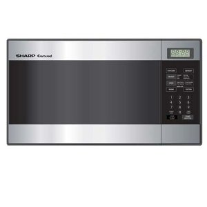 Sharp R-216LS Compact 0.8 Cubic-Foot Microwave, Stainless Steel