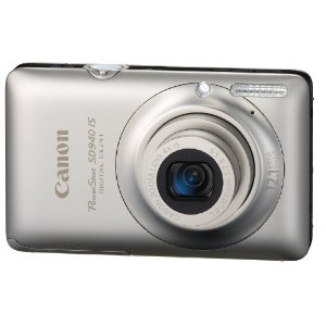 Canon PowerShot SD940 IS Digital ELPH 12.1MP Camera w/ 4x Wide Angle Optical IS Zoom (Silver)