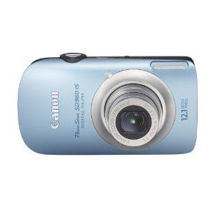 Canon PowerShot SD960IS Digital Elph 12.1 MP with 4x Wide Angle Optical IS Zoom (Light Blue)