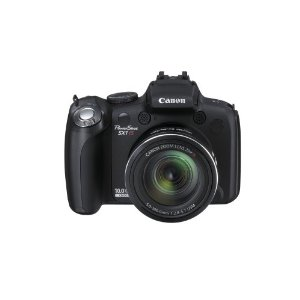 Canon PowerShot SX1 IS 10MP Digital Camera with 20x Wide Angle Optical IS Zoom