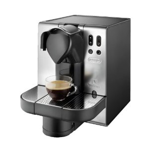DeLonghi Nespresso Lattissima Single-Serve Espresso Maker, Metal (EN680.M)