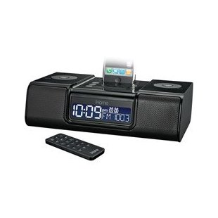 iHome iP9 Clock Radio for iPod, iPhone (iP9BR, Black)