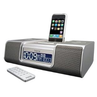 iHome iP9 Clock Radio for iPod, iPhone (iP9SR, Silver)