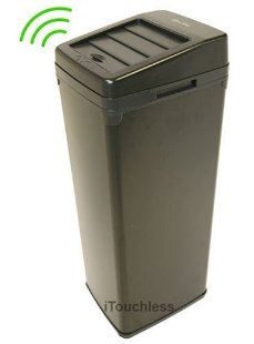 iTouchless SX Automatic Touchless 13 Gallon Trashcan (Black)