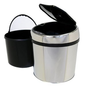 iTouchless TX Automatic Stainless Steel Touchless 1 Gallon (6 liter) Trashcan