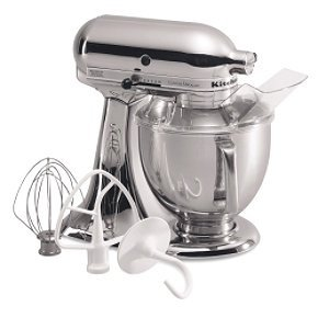 KitchenAid KSM152PSCR Artisan Series 5-Quart Stand Mixer (Chrome)