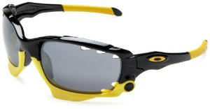 Oakley Jawbone LIVESTRONG Sunglasses #04-211 (Black, Iridium Yellow with Black and Yellow lenses)