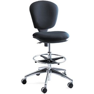 Safco 3442BL Metro Extended Height Swivel/Tilt Chair, 22-33 Seat Height, Black/Fabric