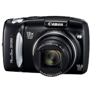 Canon PowerShot SX120 IS 10MP Digital Camera w/ 10x IS Zoom (2300810)