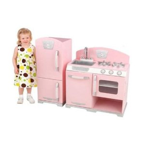 Kidkraft Retro Kitchen Set with Refrigerator (Pink)