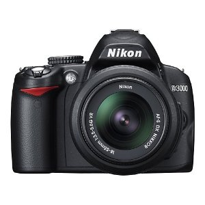 Nikon D3000 10.2MP DSLR Camera with 18-55mm f/3.5-5.6G AF-S DX VR Nikkor Zoom Lens