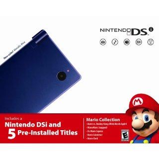 Nintendo DSi Mario Collection Bundle with 5 Games (Metallic Blue)
