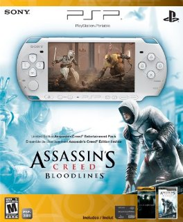 PSP Limited Edition Assassin's Creed: Bloodlines Entertainment Pack (PSP-300 Series) (Pearl White)