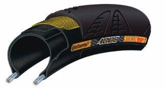 Continental GrandPrix 4000 Tire w/ Black Chili Compound (700x23, Black)